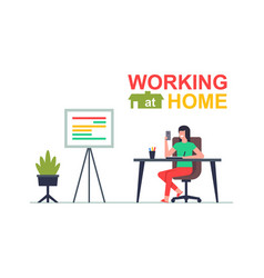 working at home vector image