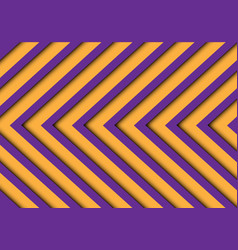 abstract purple yellow arrows pattern vector image vector image