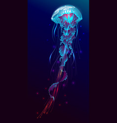 fantasy glowing jellyfish vector image