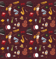 fashion jazz band music party musical instrument vector image vector image