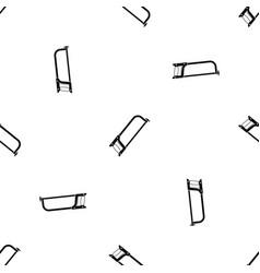 hacksaw pattern seamless black vector image