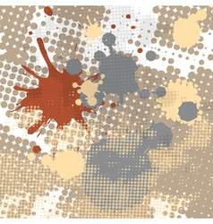 halftone splash grunge background vector image