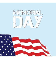 Memorial Day Flag Design EPS 10 grouped for easy vector image vector image