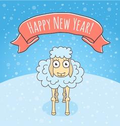 New year sheep vector