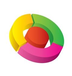 3d diagram vector image vector image