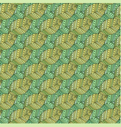 Autumn modern seamless pattern with ethnic leaves vector