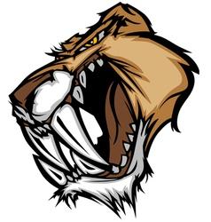 cougar mascot head graphic vector image vector image