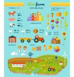 Eco Farm Infographic Elements Flat Design vector image vector image
