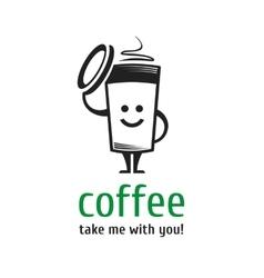 Logo coffee cup vector image vector image