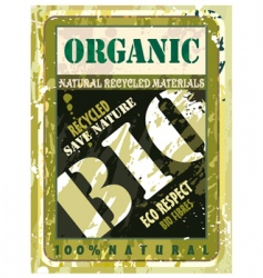 organic bio label vector image