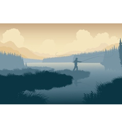 Wilderness angler vector image
