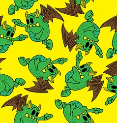 winged monster pattern vector image vector image