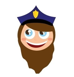 woman agent police character avatar vector image