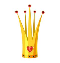 crown icon cartoon style vector image