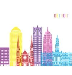 Detroit v2 skyline pop vector