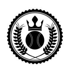 tennis league design vector image