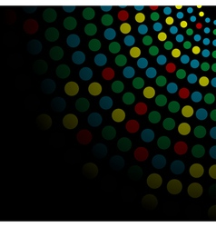 background with colored cyrcles vector image vector image