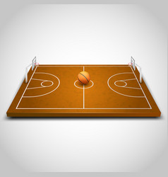 basketball 3d field vector image vector image