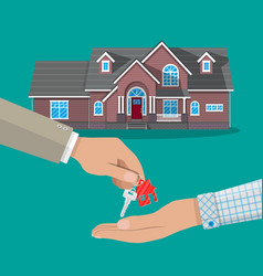 buy rental or lease a house real estate vector image