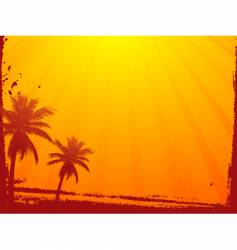 grunge summer sunset vector image vector image