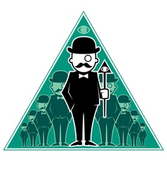 Hipster Secret Society vector image vector image