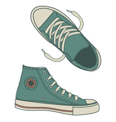 Seamless hip shoe collection vector image vector image