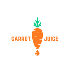 simple carrot juice logo vector image vector image