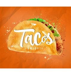 Tacos color vector image