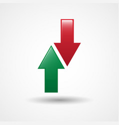 up and down arrows icon vector image vector image