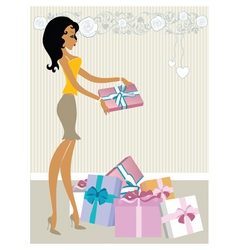 Valentine's gifts vector image vector image