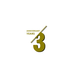 3 years anniversary celebration template design vector