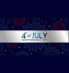 4th july independence day banner design vector image