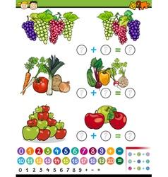Algebra game cartoon vector