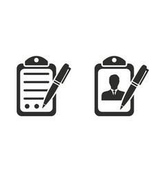 Application form icon vector