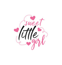 Baby quote lettering typography vector