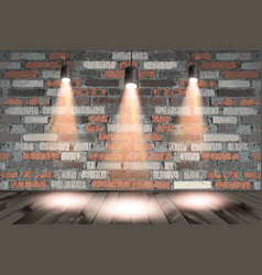 background image dark wall with light spot vector image