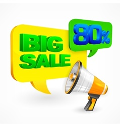 Big sale inscription vector