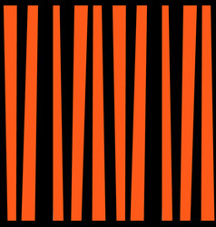 Black and orange striped pattern for halloween vector