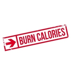 Burn calories stamp vector