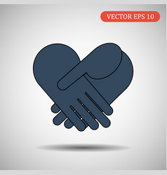 business handshake icon eps 10 vector image