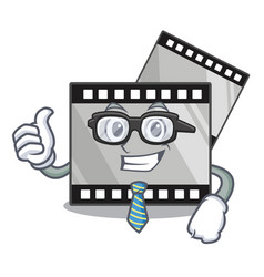 businessman film stirep in characater shape vector image