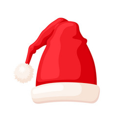 christmas traditional red hat winter holiday vector image
