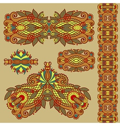 Colored floral ornamental decoration design elemen vector