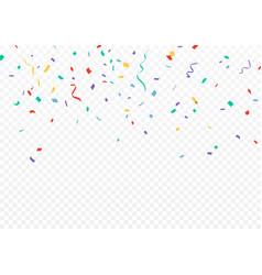 Colorful confetti celebrations design vector