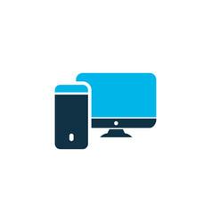 computer icon colored symbol premium quality vector image