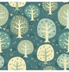 cute night forest background vector image