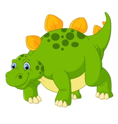 Cute stegosaurus cartoon vector