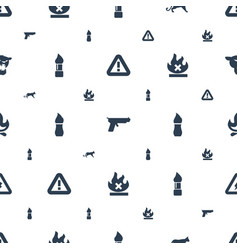 Dangerous icons pattern seamless white background vector