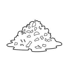 Design landfill and trash symbol web vector