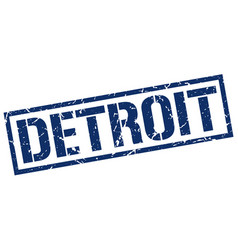 Detroit blue square stamp vector